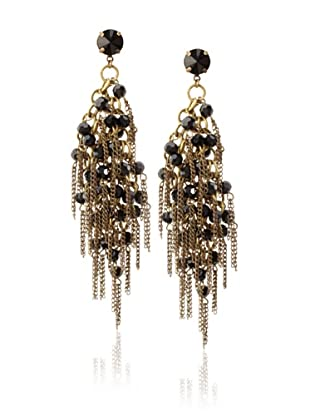 Joanna Laura Constantine Black & Gold Multi-Stone Strand Earrings