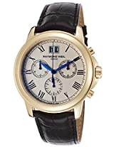 Raymond Weil Analogue White Dial Men's Watch - 4476-PC-00800