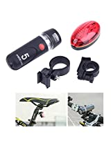 Oumers Bicycle Light Set, Bike Light Set, Super Bright LED Headlight, LED Taillight, Bright Headlight and Rear Bicycle Light Set, Flashing Light Mode Alerts Motorists, Best for Road, Mountain and Kids Bikes