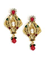 Bindhani Gold-Plated Dangle Earring For Women (Multi-Colour)