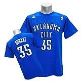 (アディダス)Adidas NBA サンダー #35 ケビン・デュラント GAME TIME Tシャツ (ブルー)