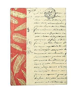 Go Home Feather Texture Book, Crimson