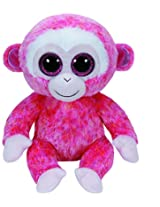 Ty Beanie Boos Ruby the Red Monkey Medium Plush