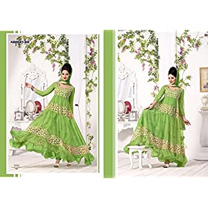 Green Color Good Looking Stylish Fancy Exclusive bridal Ethnic Awesome Party Wear Suit