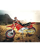 Colorful Wood Craft Construction 3D Jigsaw Puzzle - Dirt Bike