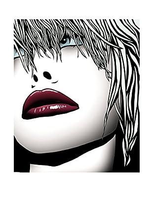 Contemporary Wood Leinwandbild Lips