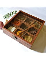 Onlineshoppee Sheesham wood Spice Box Container - Spice Box Holder