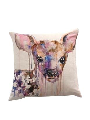 Filling Spaces Deer Print Pillow, Multi