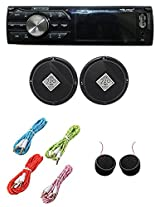 Worldtech Onmca_411 Single Din Wt - 7102U With 6 Inch Speakers Set With 4 Aux Wire & Tweeter