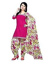 Krisha Womens Cotton Salwar Unstitched Dress Material (P1-108 _Green)