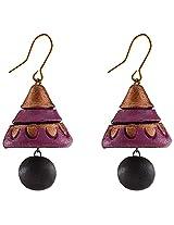 Avarna Terracotta Jhumki Hanging Earrings Jha0004 For Women (Multi-Color )