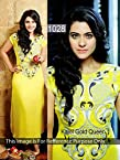 Kajol Yellow Faux Georgette Anarkali Gown