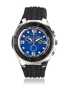 Breed Men's Rogue Black/Blue Polyurethane Watch