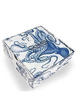 Caskata Studio 40 Count Paper Cocktail Napkins in Decorator Box, Blue Lucy
