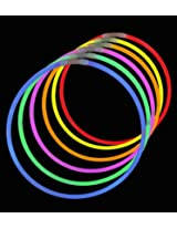 "22"" Lumistick Brand Glow Stick Necklaces Assorted Mixed Colors (50 Necklaces)"