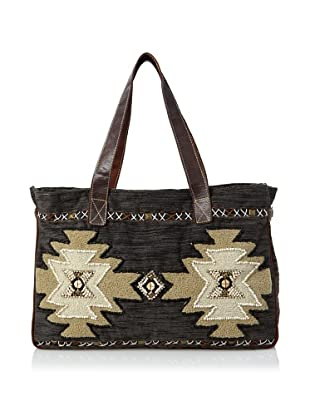 Mare Sole Amore Women's Tribal Tote Bag (Charcoal)