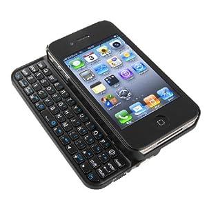 iBUFFALO Bluetooth2.0 コンパクトキーボード iPhone4S/4 両対応 ケース一体型モデル ブラック BSKBB07BK