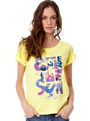 Rip Curl Camiseta Fan Palm (Amarillo)