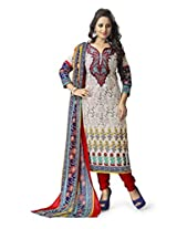 Vaamsi Women's Salwar Suit Dress Material (Cocp42_Beige_Free Size)