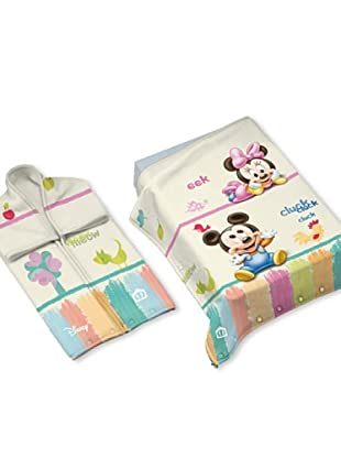 Disney Home Sacco Coperta Mickey Mouse (Bianco)