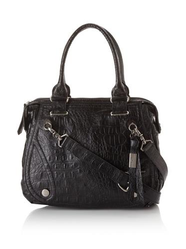 Foley + Corinna Benja Day Bag (Black Croc)