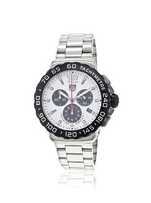 TAG Heuer Men's CAU1111.BA0858 White Formula 1 Chronograph Watch