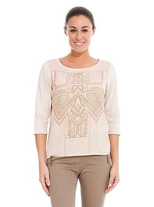 Cortefiel   Camiseta Étnica (Rosa)