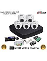 DAHUA HDCVI 8CH DH-HCVR4108C-S2 DVR + DAHUA HDCVI DH-HAC-HDW1000RP DOME CAMERA 5Pcs + 1 TB WD HDD + 3+1 COPPER CABLE + POWER SUPPLY (FULL COMBO)