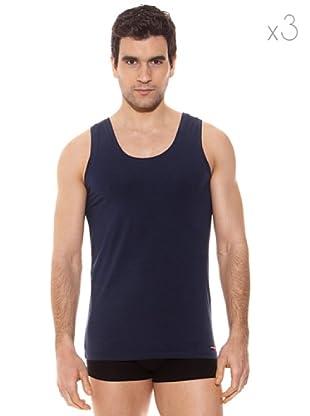 Pierre Cardin Pack 3 Camisetas Tirantes (Marino)