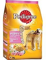 Pedigree Dog Food Puppy Chicken & Milk - 3 Kg