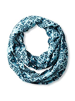 Saachi Women's Two-Toned Ikat Print Infinity Scarf, Denim