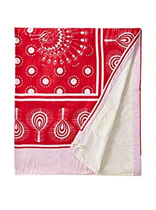 Nomadic Thread Swahili Towel, Maroon/Pink