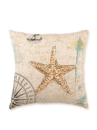 "Kathryn White Sea Star Pillow, 16"" x 16"""