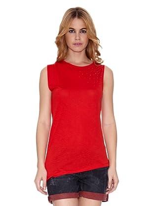 Salsa Camiseta Cains con Piedras (Rojo)