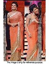 Bollywood Replica Priyanka Chopra Georgette Saree In Orange Colour NC75