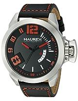 Haurex Italy Men's 6A509URN Storm Analog Display Quartz Black Watch