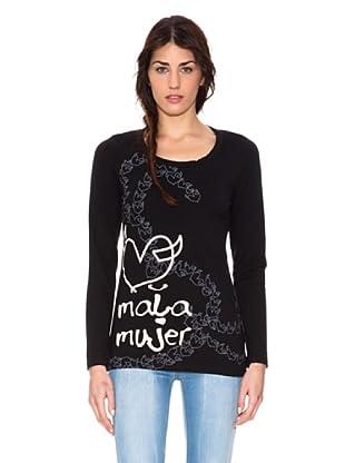 Mala Mujer Camiseta Clio (Negro)