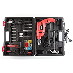 Skil 6513 550 watts 13 mm Impact Drill with Variable Speed, Reverse Hammering Function + 138 Pieces Kit