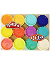 Play Doh Hot & Cool Colors Assortment Bulk Pack Large 12 Pack Of 5oz. Cans Colors May Vary