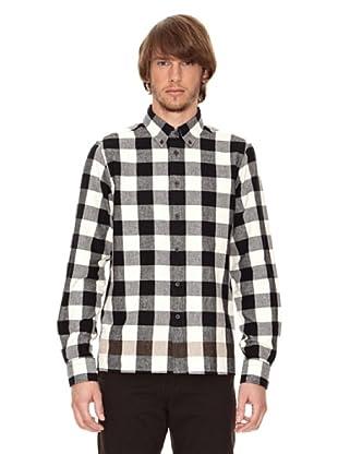 Ben Shermann Camisa Cuadros Gaye (Blanco / Negro)