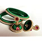 Green Plastic Traditional Jewellery Set