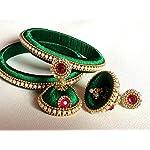 Green Plastic Traditional Jewellery Set