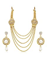 Meenaz Traditional Necklace Sets Jewellery Sets Gold Plated With Earrings For Women,Girls NL106