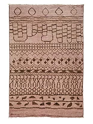 Darya Rugs Moroccan One-of-a-Kind Rug, Beige, 4' 1