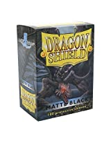 Dragon Shield Matte Black 100 Deck Protective Sleeves in Box, Standard Size for Magic he Gathering (