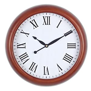Opal Antique Look Wooden Round Clock (Brown)
