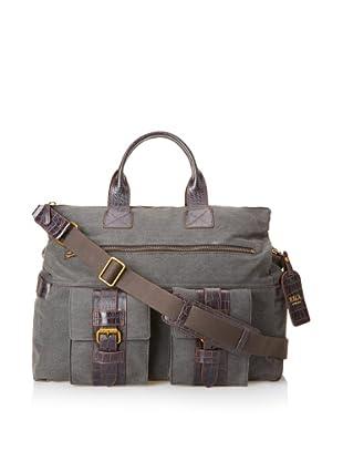 Bosca Men's Field Excursion Bag (Gray/Dark Brown)