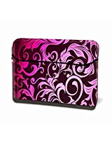 Theskinmantra Pinkity Floral Hydraflex Universal size Laptop Sleeve 15.6 inches