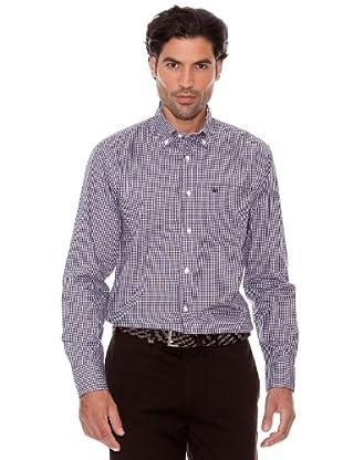 Pedro Del Hierro Camisa Cuadros (Marrón Oscuro)
