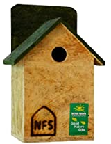 Nature Forever House Shaped Sparrow and Tit Nest Box, Brown